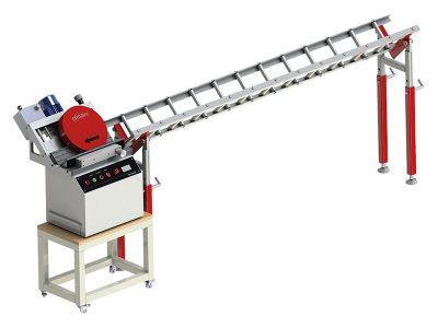 Kantenfräsmaschine KF-500 mit Rollenbahn AM-500